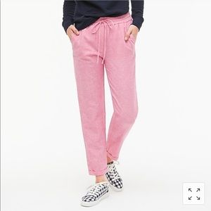 J. Crew linen cotton pants NTW
